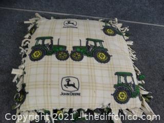 John Deere Green Pillow