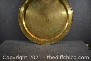Solid Brass Tray 36in dia