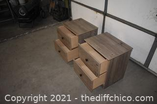 Pair of 2 Drawer Night Stands