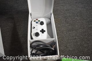 White 1TB XBoxOnes Unit, Controller plus 8 Games