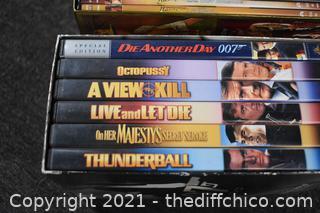 DVD Sets - Indian Jones and 2 - 007 Sets