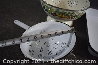 Enamel Cookware and Colanders