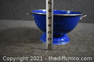 Cobalt Blue Colander / Strainer