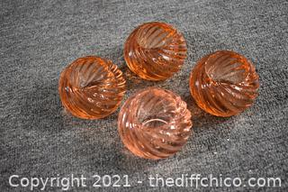 4 Glass Candle Holders