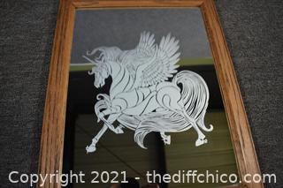 Framed Etched Mirror