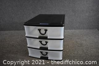 3 Drawer Plastic Organizer