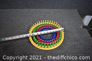 4 Knitting Plastic Circles