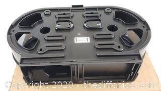 "*NEW* vonDrehle 3253 Jumbo Roll Twin Jr. Commercial Bath Tissue Dispenser, Smoke, 9"" Diameter Roll Size, 3.3"" Core Size, Approx Dimensions: 21"" x 12"" x 5"", Stylish Attractive Design"