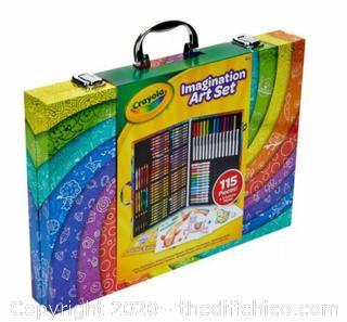 NEW SEALED Crayola 115pc Imagination Art Set with Case