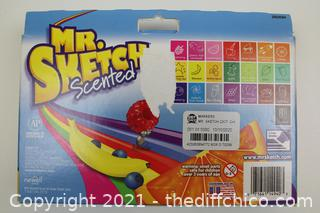 Mr. Sketch Chiseled Tip Marker, 22 Assorted Scented Markers