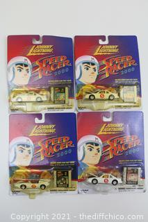 Lot of 4 Johnny Lightning Speed Racer 2000 Die Cast Cars