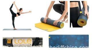 Lolë Yoga Mat with Strap 71'' x 24'' Navy