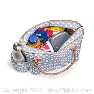 Fit & Fresh Atwater Lunch Kit - Classic Gray Dot