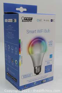 Feit Electric 60W Equiv Daylight A19 Dimmable Color Changing WiFi LED Smart Bulb