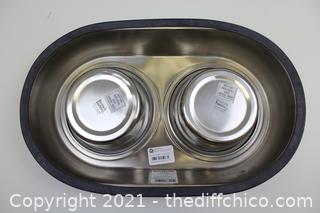 Double Dinner Dog Bowls 28oz