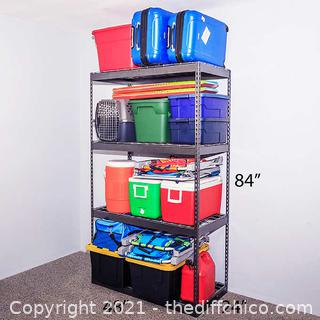 "Costco ($149) SafeRacks Garage Shelving 24""x48""x84"