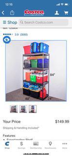"Costco ($149) SafeRacks Garage Shelving 24""x48""x84"