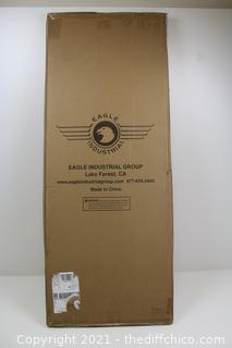 SafeRacks Wall Shelf Combo Kit, Two Shelves, Four Deck Hooks
