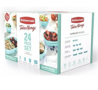 NEW Rubbermaid TakeAlongs Meal Prep 24- Piece Food Storage Containers