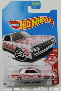 Hot Wheels 2016 Red Edition Target Exclusive '64 Lincoln Continental