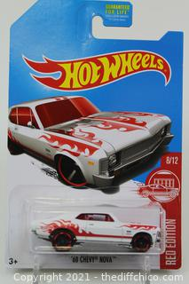 2017 Hot Wheels RED EDITION white '68 CHEVY NOVA 8/12 Target Exclusive