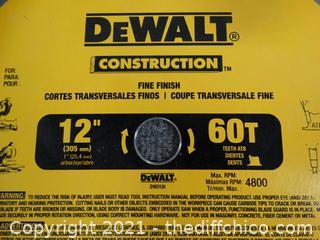 "12"" DeWalt Blade"