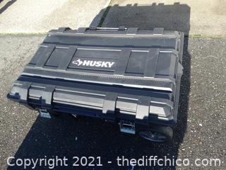 Husky 25 Gallon Mobile Tool  Box On Wheels