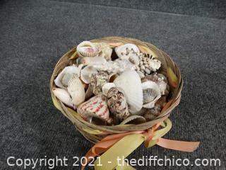 Basket Of Sea Shells