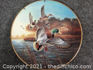 """Ducks Unlimited Numbered Plate-Mallards At Sun Rise 8"""""""