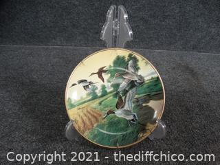 Ducks Unlimited Numbered Pintails In Indian Summer plate