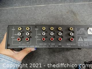JVC Audio Video Selector Powers on