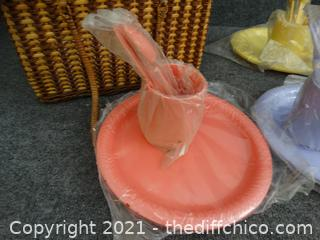 Picnic Basket with picnic Diashes