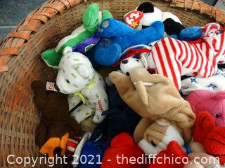 Basket of Beanie Babies & More