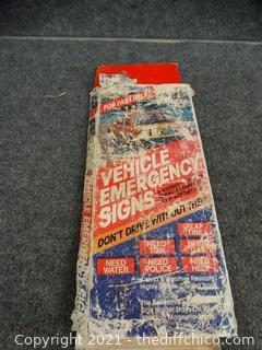 Vehicle Emergency Signs