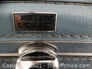 """Hard Blue Suitcase 27""""x 8 1/2"""" 18"""""""