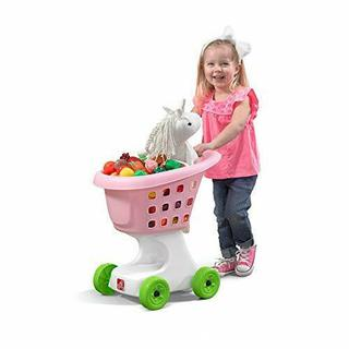 Step2 Little Helper's Shopping Cart | Pink Toy Shopping Cart for Toddlers