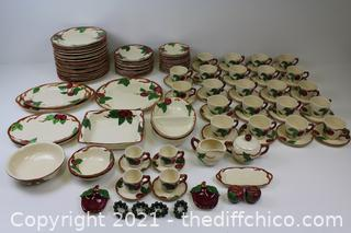 REALLY NICE HUGE VINTAGE Franciscan Apple Ware; 1940's-1960's- 118 PIECES!