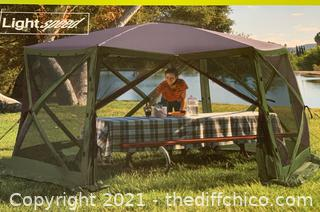 Lightspeed Rapid Set-Up Screen House Gazebo Green