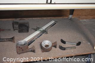 Occidental Vintage Cast Iron Stove plus Parts