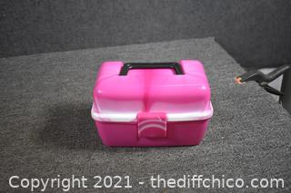Pink Fishing Tackle Box plus contents