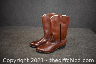 New Red Wing Leather Boots - size 9D