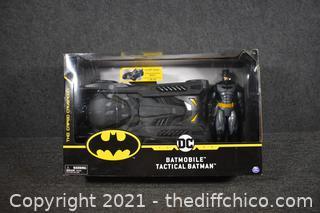 NIB DC Batman Tactical Figure w/Batmobile