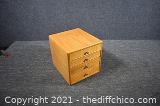 Oak Wood 3 Drawer Box