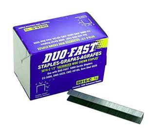 "Duo-Fast 5016C 1/2"" Length x 1/2"" Crown 20 Gauge Staples - 2 Boxes (J8)"
