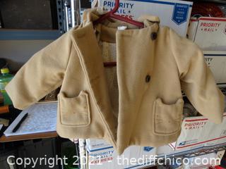 H & M Tan Coat 6-9 months