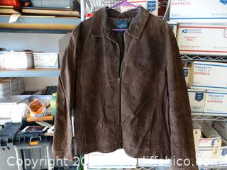 Mens Faded Glory XL Suede Coat XL