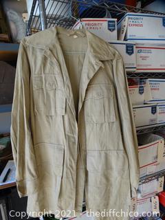 38XL Tan Military Coat