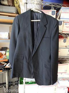 Haggar Blue Dress Coat XL