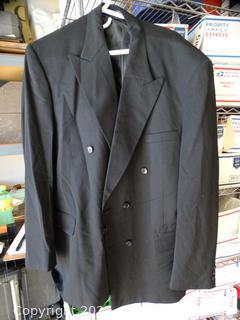 Mens Gray  Dress Coat 44L