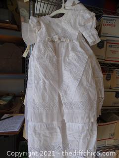 White 3t-4t  Dress